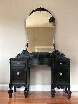 Refinished Antique Make-Up Vanity