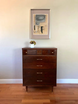 Fully Restored Bassett Mid Century Modern Highboy Dresser