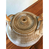 FREE SHIPPING - Vintage Studio Pottery Teapot with Bamboo Handle