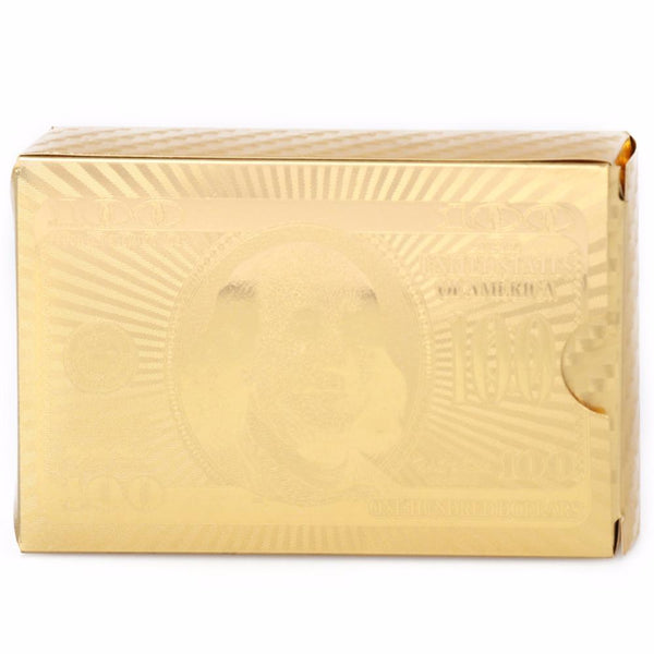 Certified Pure 24K Carat Novelty Gold Foil Plated Poker Playing Cards