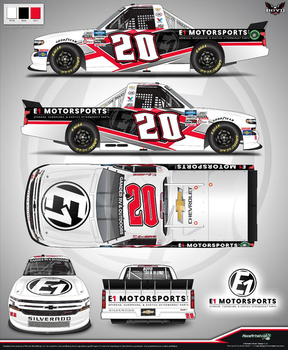 E1 Motorsports Inks Extension with NASCAR Driver Spencer Boyd