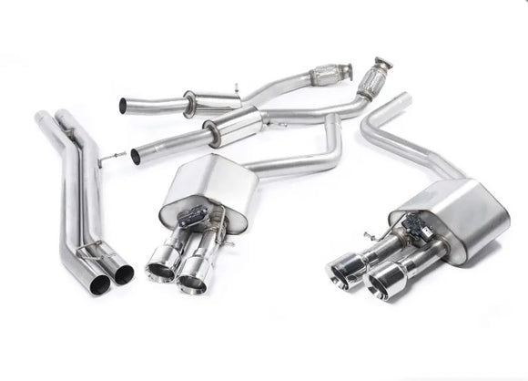 Milltek Cat-Back Exhaust System - Resonated - Valved - Stainless Tips - D4 S8