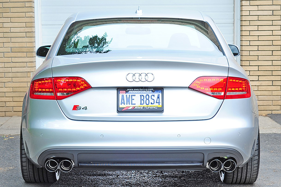 AWE Track Edition Exhaust w/ Chrome Silver Tips (102mm) - Audi B8/8.5 S4 3.0T