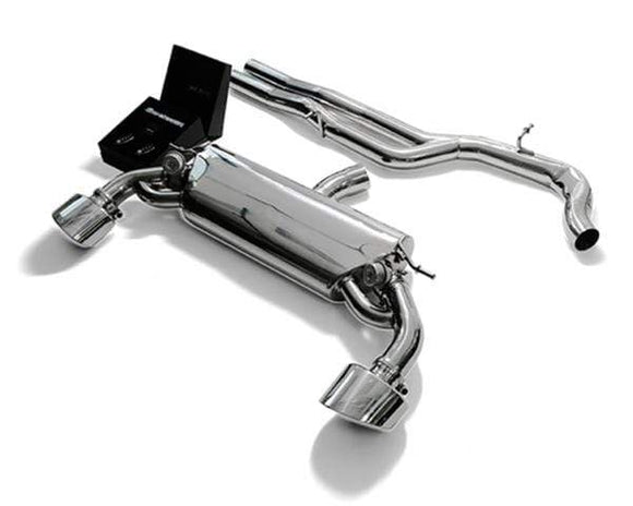 ARMYTRIX Stainless Steel Valvetronic Catback Exhaust System Dual Matte Black Tips Audi RS3 8V 2.5L Turbo Sedan 17+