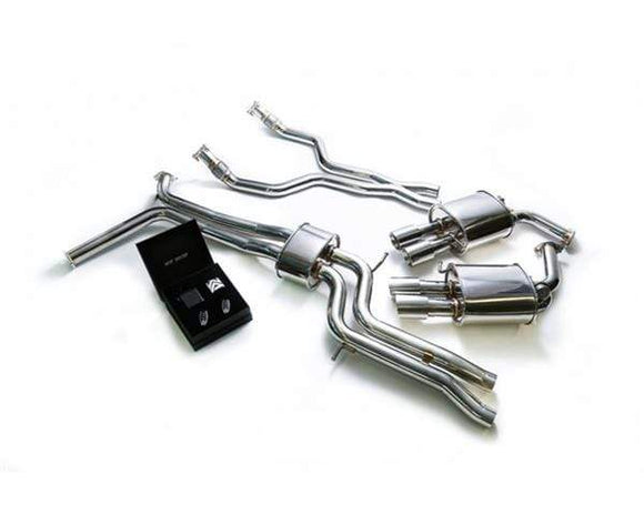 ARMYTRIX Stainless Steel Valvetronic Catback Exhaust System Quad Chrome Coated Tips Audi A6 | A7 C7 3.0 TFSI V6 11-18