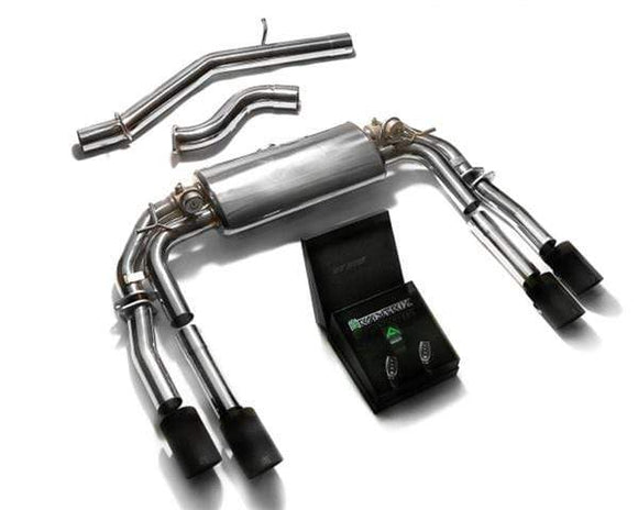 ARMYTRIX Stainless Steel Valvetronic Catback Exhaust System Quad Carbon Tips Audi S3 8V Sedan 2.0 Turbo 13-18