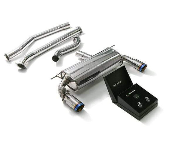 ARMYTRIX Stainless Steel Valvetronic Catback Exhaust System Dual Blue Coated Tips BMW 340i | 440i F3x 17+