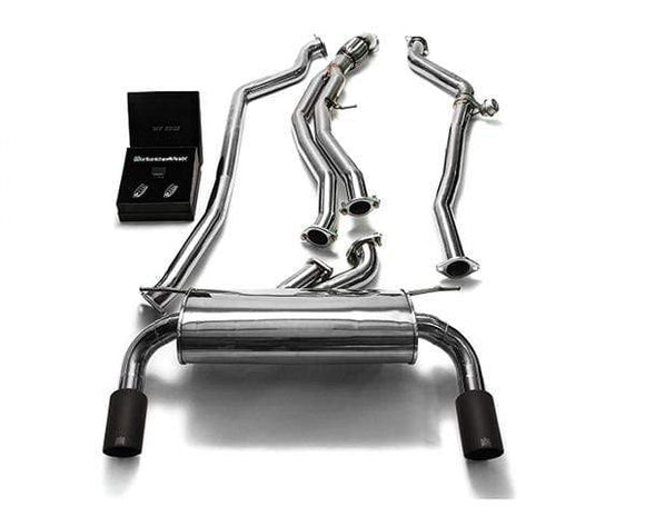 ARMYTRIX Stainless Steel Valvetronic Catback Exhaust System Dual Carbon Tips BMW M135i | M235i F2x 12-15