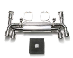 ARMYTRIX Stainless Steel Sport Race Valvetronic Exhaust System Quad Chrome Silver Tips Porsche 991.2 Carrera 17-18