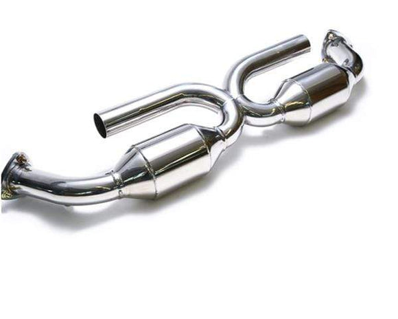 ARMYTRIX High Flow 200CPSI Catalytic Converter X-Pipe Porsche 997 Carrera 05-08