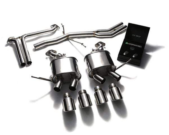ARMYTRIX Stainless Steel Valvetronic Exhaust System Quad Matte Black Tips Porsche Macan 2.0T 15+
