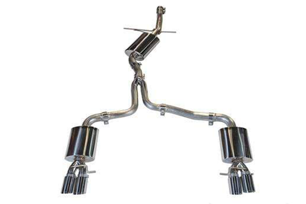 AWE Touring Edition Exhaust Quad Tip w/ Polished Silver Tips - Audi B8/8.5 A4 2.0T