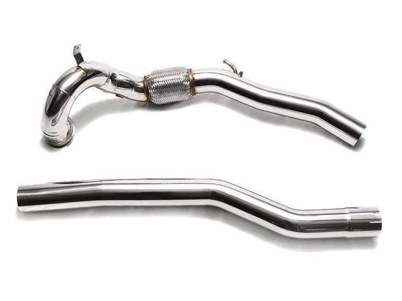 ARMYTRIX Sport Cat-Pipe with 200 CSPI Catalytic Converters | Secondary Downpipe Audi S3 8V | VW Golf R MK7