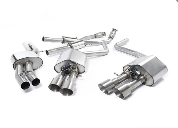 Milltek Cat-Back Exhaust System - Resonated - Valved - Titanium Tips - D4 S8