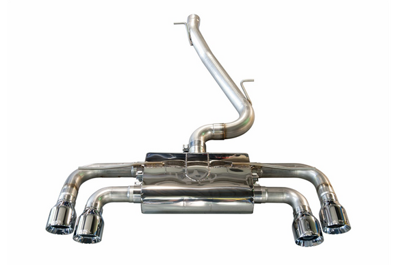 AWE Track Edition Exhaust w/ Chrome Tips (90mm) - VW MK7 Golf R