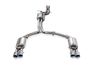 AWE Touring Edition Exhaust w/ Quad Outlet Diamond Black Tips - Audi C7.5 A7