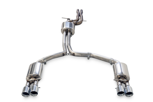 AWE Resonated Downpipes - Audi B8 / C7 / S4 / S5 / A6 / A7 3.0T