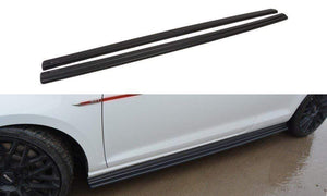 Maxton Design Gloss Black Side Skirts | Volkswagen Golf Mk7/Mk7.5