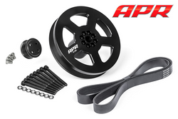 APR Bolt-on Drive & Crank Pulley (187 mm) with Belt - Audi 3.0 TFSI