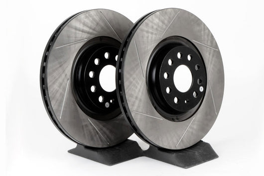 StopTech Slotted SportStop Front Rotors - 340x30mm
