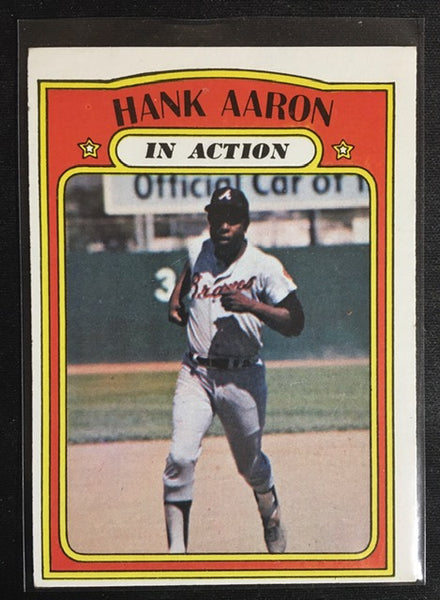 1972 Topps - HANK AARON - In Action -  Card # 300