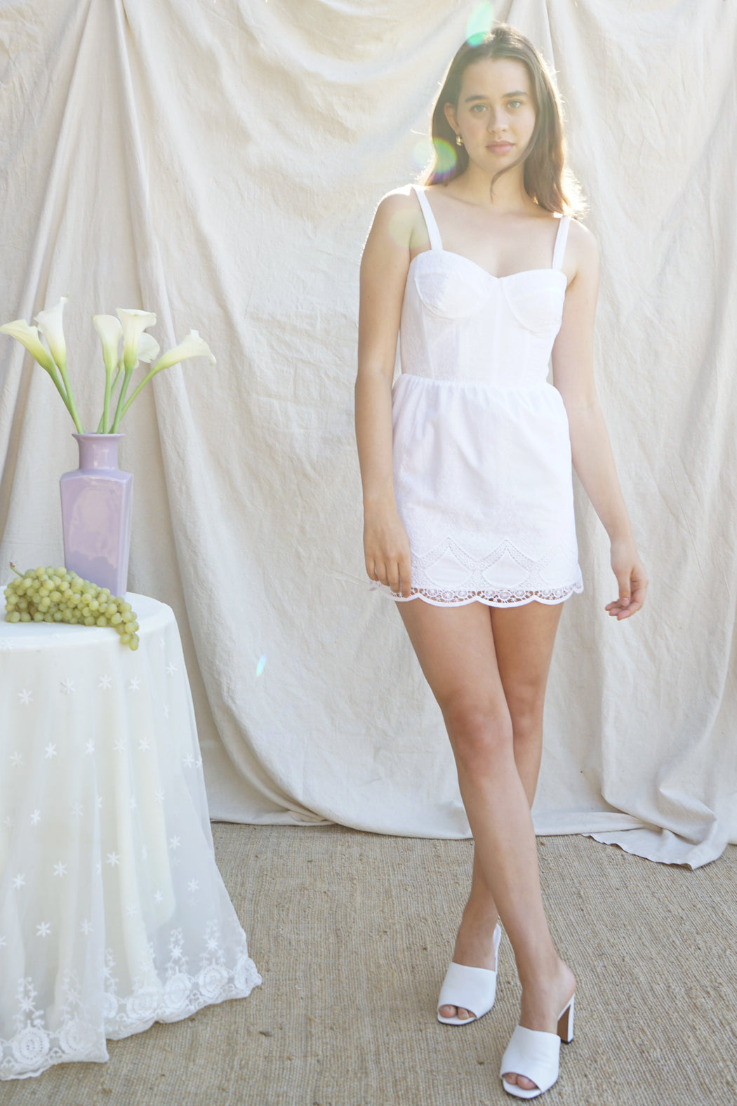 Paige Dress - White Eyelet