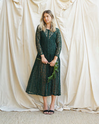 Green Lace Dress (XS-Medium)