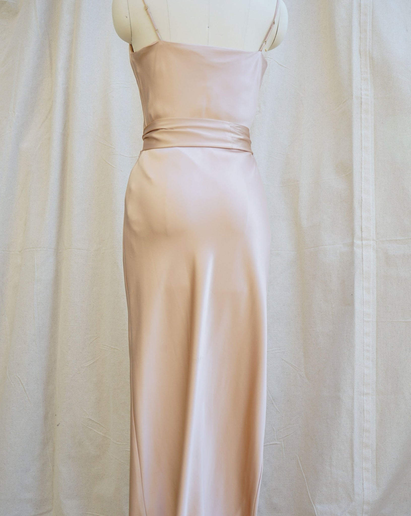 Silk Long Maxi 02 with Sash