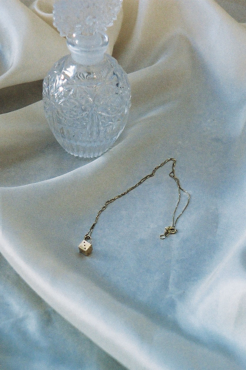 Dice Necklace 14k Solid Gold