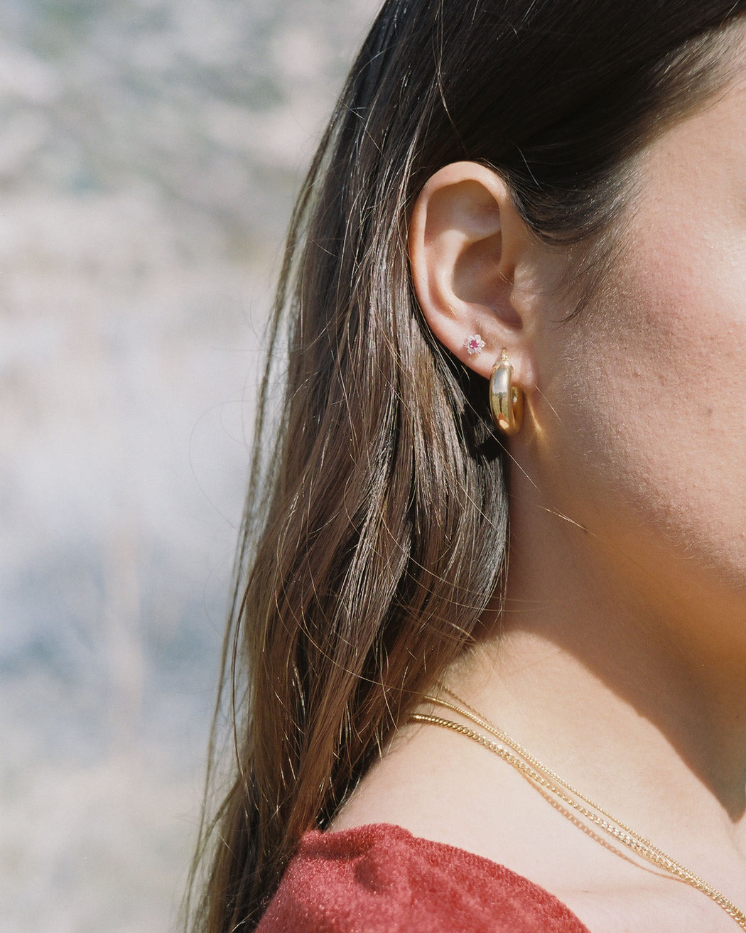 The Taylor Earrings Gold Plated Hoops