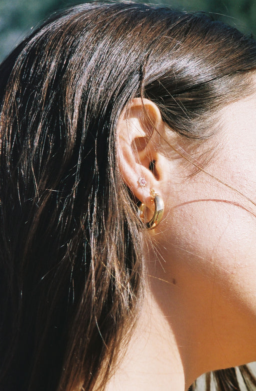 Taylor Hoops Gold Plated