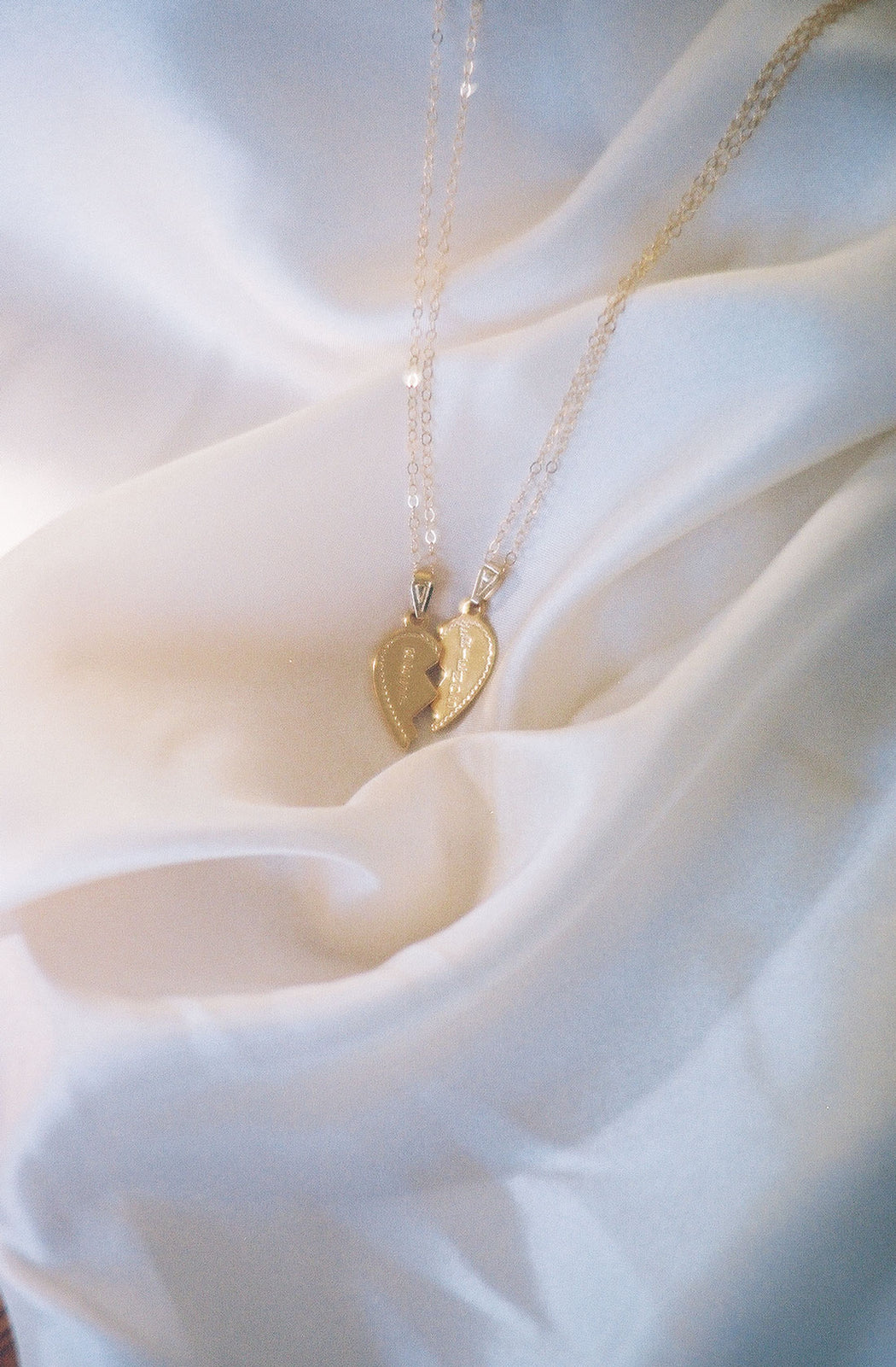 Best Friends Necklace Gold Plated Vermeil
