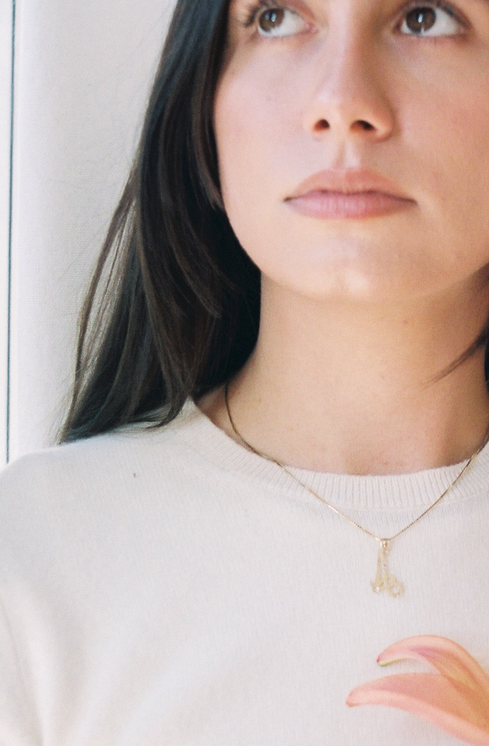 Monogram Initial 14k Gold Necklace