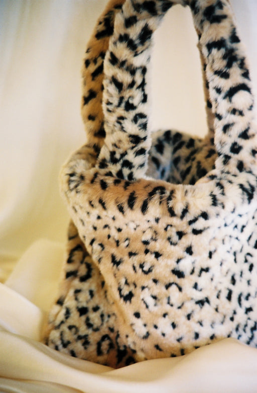 Faux Fur Leopard Purse
