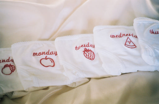 Embroidered Cotton Weekday Underwear