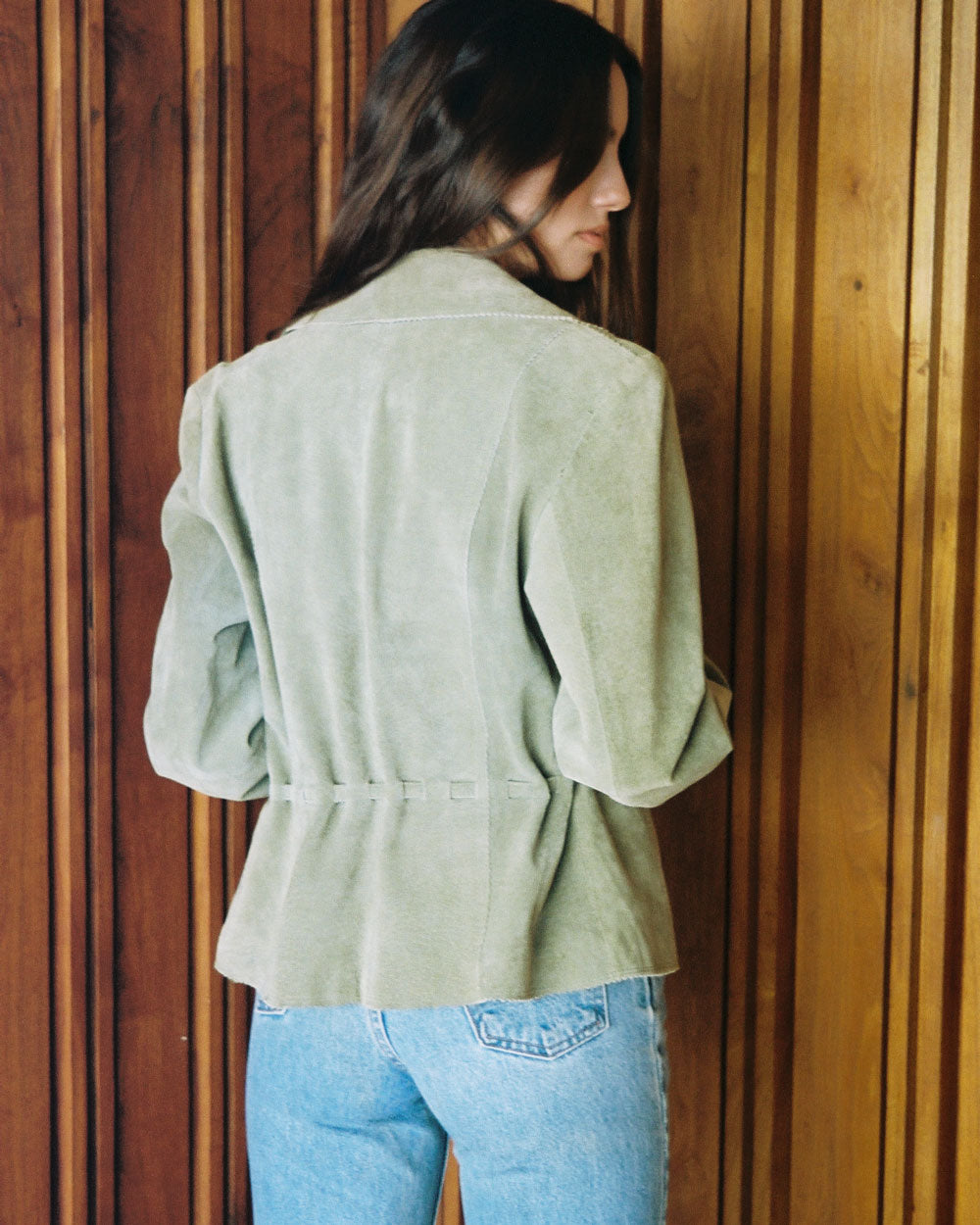 Vintage Green Suede Jacket #144