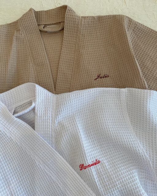 Custom Embroidered Waffle Robe