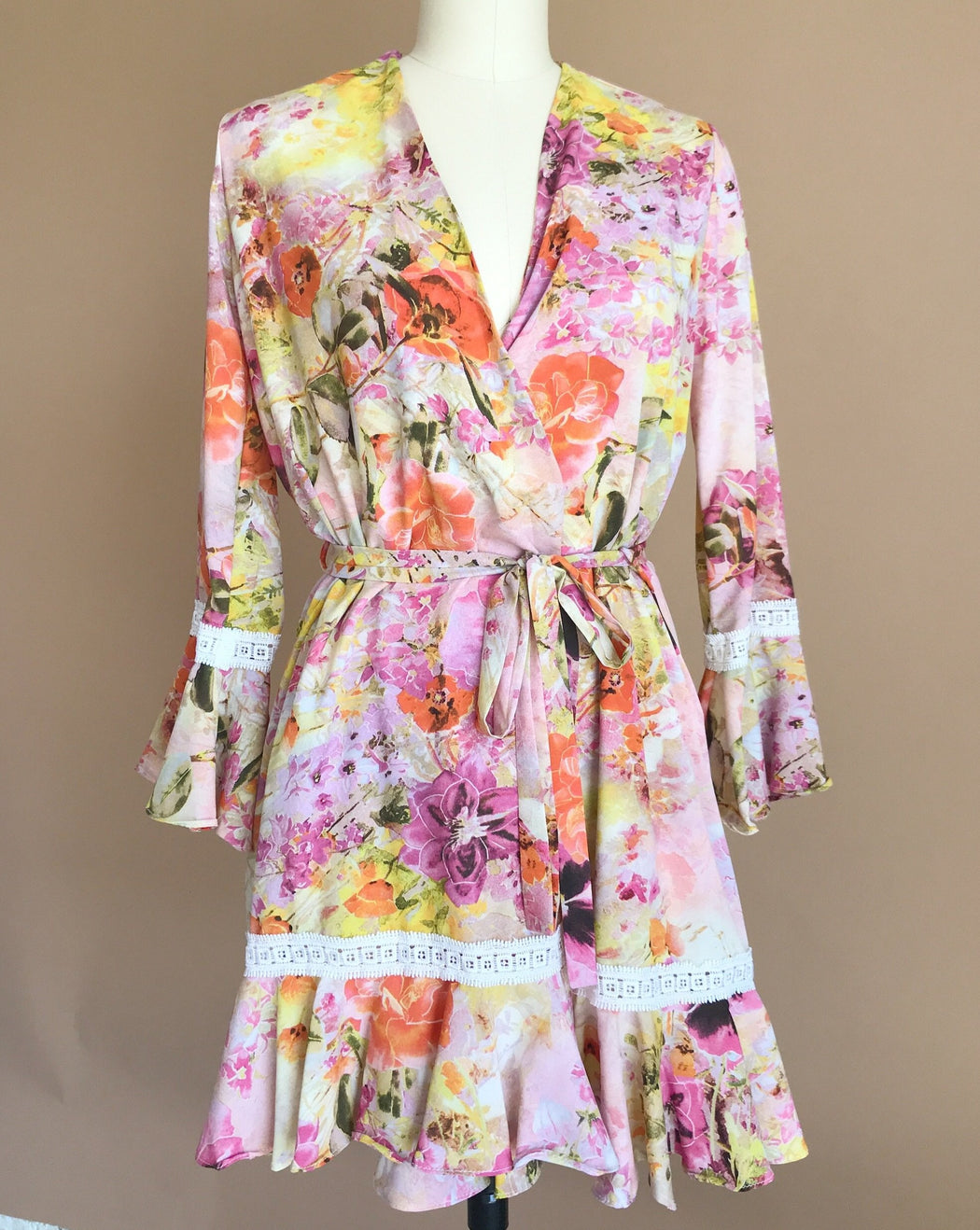 Sunset Floral Robe