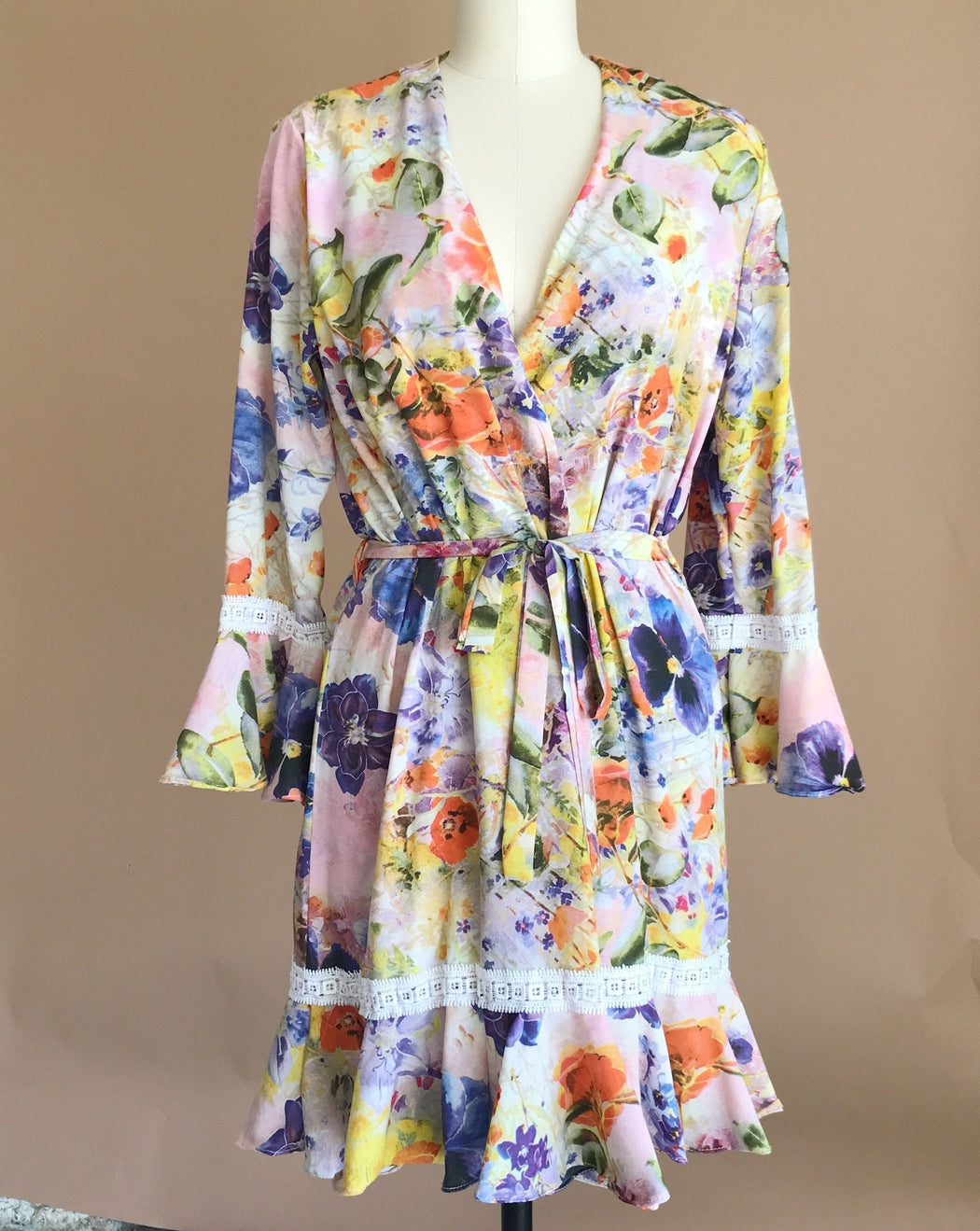 Wildflower Floral Robe - Small