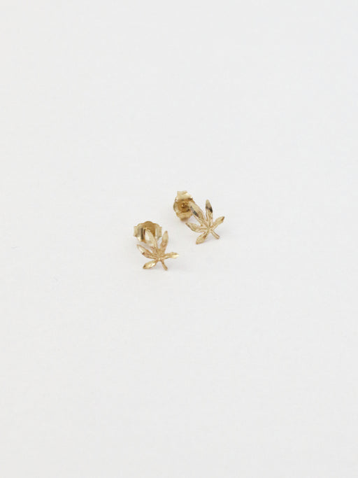 10k Solid Gold Mary Jane Studs