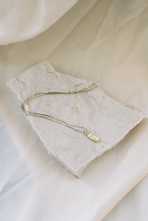 14k Gold Cell Necklace