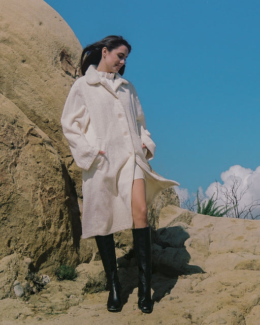 Atticus Coat in Vintage Cream