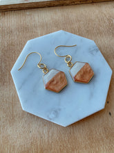Gold and Bronze Geometric Earrings