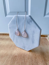 Silver Rose Quartz Earrings
