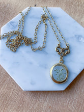 Tiny Floral Charm Necklace