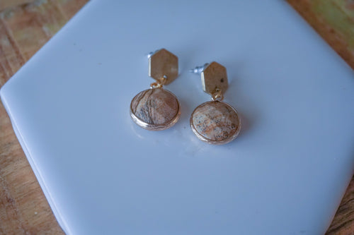 Gemstone Post Earrings