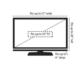 TV cover measurements: Fits up to 55 inch tv