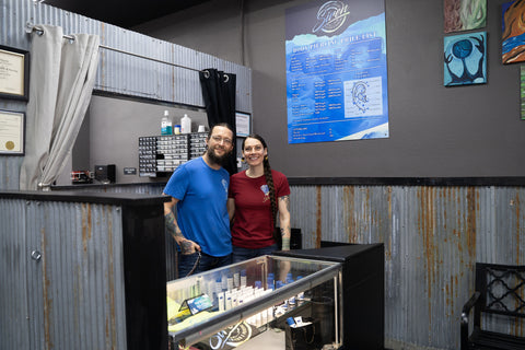 erix and valerie at siren body jewelry tattoo and piercing