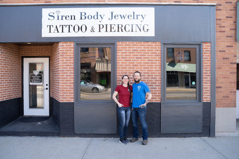 valerie and erix outside siren body jewelry tattoo and piercing in sauk centre minnesota