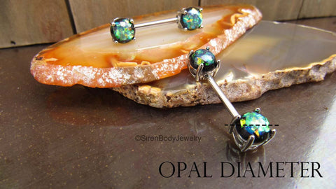 How to measure the diameter of your nipple piercin gem opal or ball end